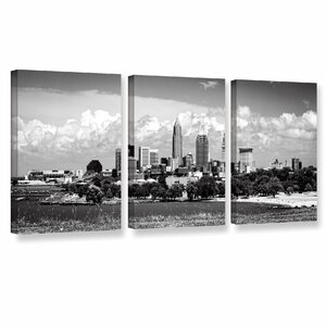 'Cleveland Pano 1' 3 Piece Photographic Print on Wrapped Canvas Set by Zipcode Design