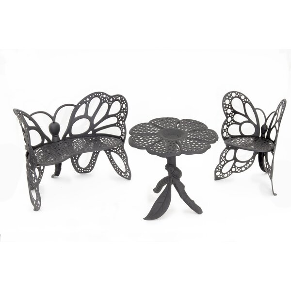 Butterfly 3 Piece Sunbrella Seating Group by Flowerhouse