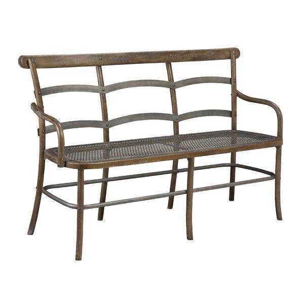 Lopresti Chevell Metal Bench by Gracie Oaks