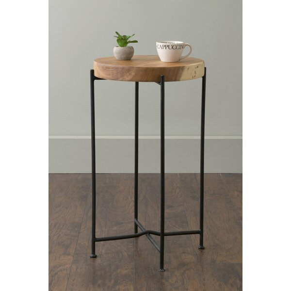 Sherlene Wood End Table by Union Rustic
