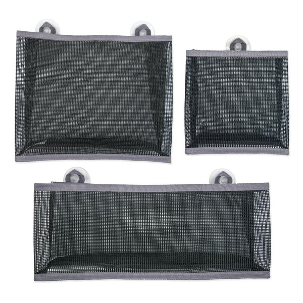 3 Piece Mesh Bathroom Organizer Bag Set (Set of 3) by Design Imports