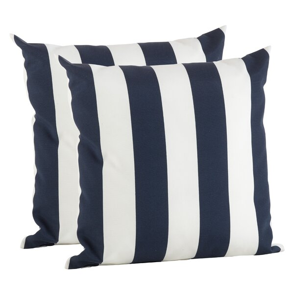 Feuerstein Striped Outdoor Pillow Cover (Set of 2) by Breakwater Bay