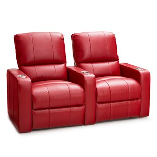 Leather Home Theater Row Seating Row of 2