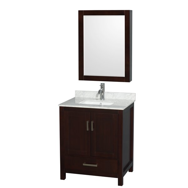Sheffield 30 Single Espresso Bathroom Vanity Set with Medicine Cabinet by Wyndham Collection
