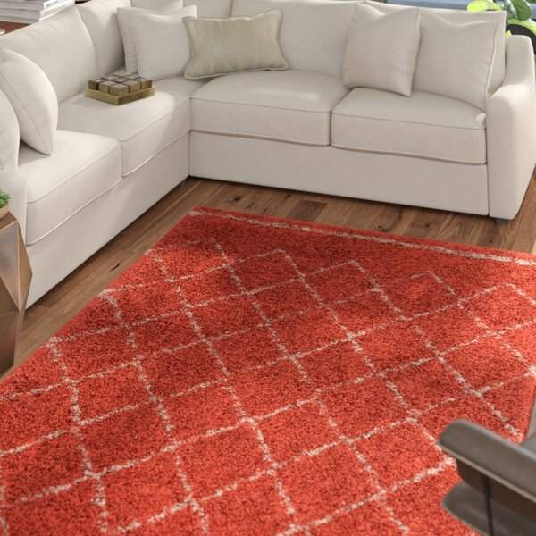 Bourgeois Red Area Rug by Mercury Row
