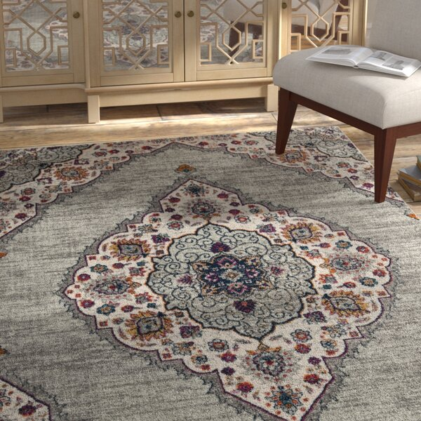 Grieve Light Beige/Gray Area Rug by Bungalow Rose