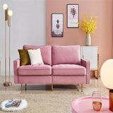 Shane Velvet 71'' Square Arm Sofa by Everly Quinn