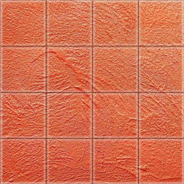 2 x 2 Glass Decorative Mural Tile in Red by Upscale Designs by EMA