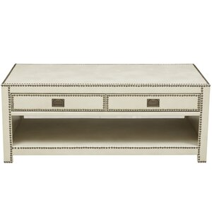 Emmanuel Faux Leather Wrapped Trunk Coffee Table House of Hampton