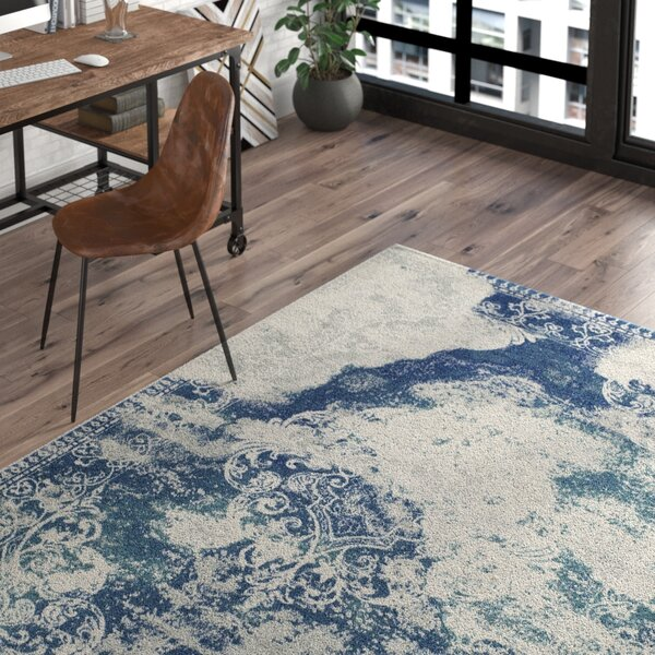 Terry Blue/Beige Area Rug by Trent Austin Design