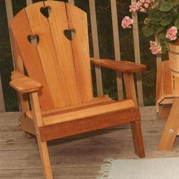 Cedar Furniture and Accessories Country Hearts Solid Wood Adirondack Chair by Creekvine Designs