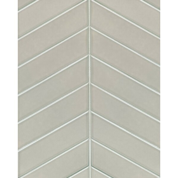 Park Place Chevron 2.57 x 9 Ceramic Field Tile in Gray by Grayson Martin