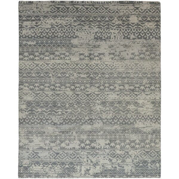 One-of-a-Kind Donahue Hand-Knotted Wool Gray Indoor Area Rug by Foundry Select