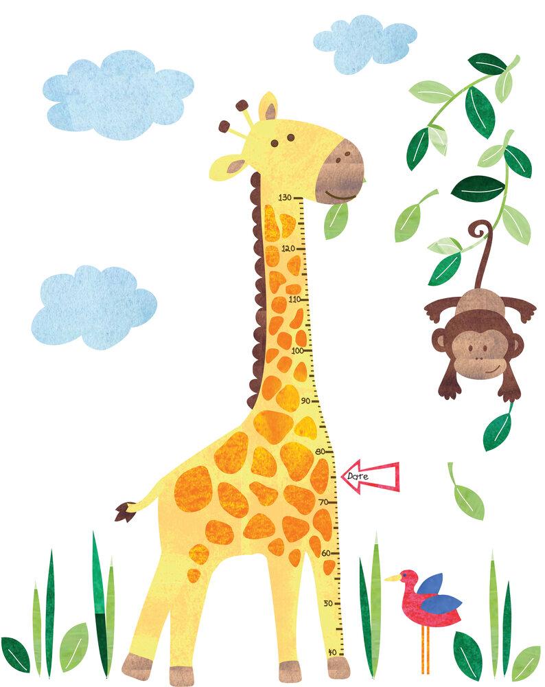 JoJo Maman Bébé Giraffe Height Growth Chart Wall Decal | Wayfair