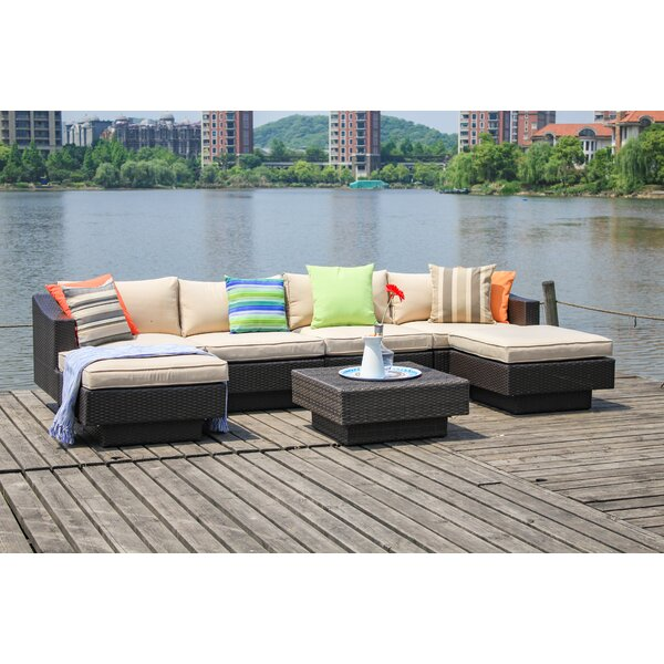 Galina 7 Piece  Sectional Set with Cushions by Longshore Tides