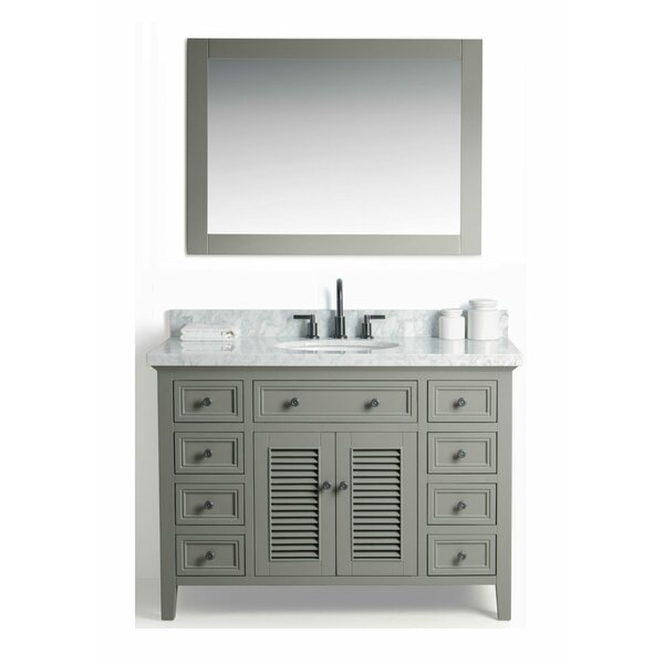 Harber Solid Wood 49 Single Bathroom Vanity Set with Mirror by Highland Dunes