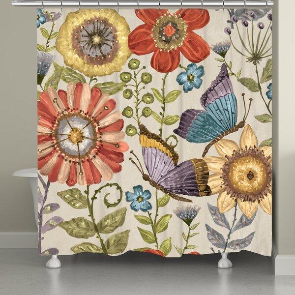 Fordyce Boho Butterfly Garden Single Shower Curtain