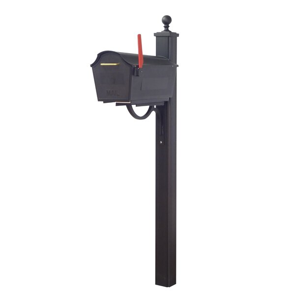 Town Square Curbside Locking Mailbox with Main Street Post Included by Special Lite Products