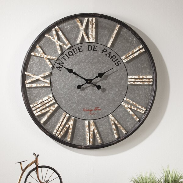 15.75 Round Metal Wall Clock by One Allium Way
