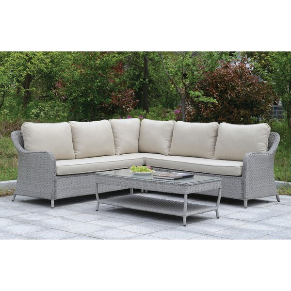 Algarin Outdoor 7 Piece Sectional Seating Group with Cushions by One Allium Way