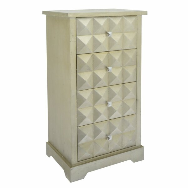 Jauregui Stylish Wooden 4 Drawer Accent Chest by Bungalow Rose