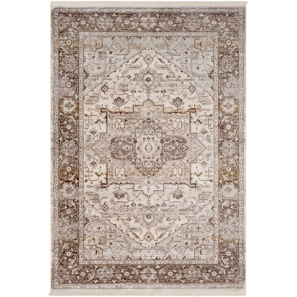 Mendelsohn Vintage Persian Traditional Brown/Cream Area Rug by Three Posts