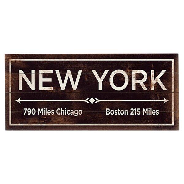 New York Arrows Textual Art Multi-Piece Image on Wood by Artehouse LLC