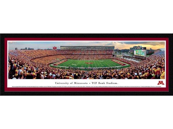 NCAA Minnesota, University of - Football by Robert Pettit Framed Photographic Print by Blakeway Worldwide Panoramas, Inc