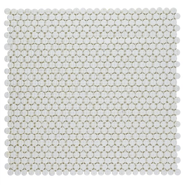 Esamo 0.45 x 0.45 Glass Penny Round Mosaic Wall & Floor Tile