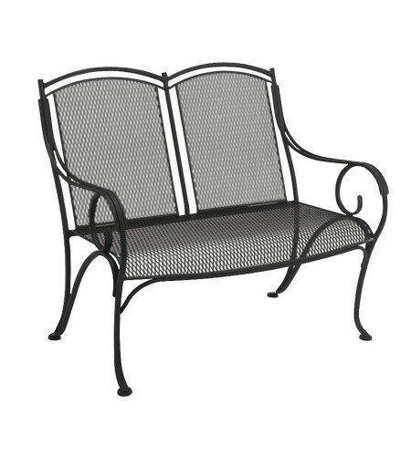 Modesto Wrought Iron Garden Bench by Woodard