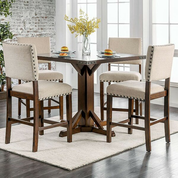 Rice 5 Piece Counter Height Dining Set by Gracie Oaks
