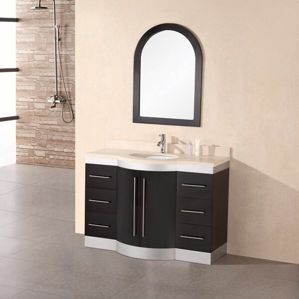 Sirena 48 Single Bathroom Vanity Set with Mirror by dCOR design