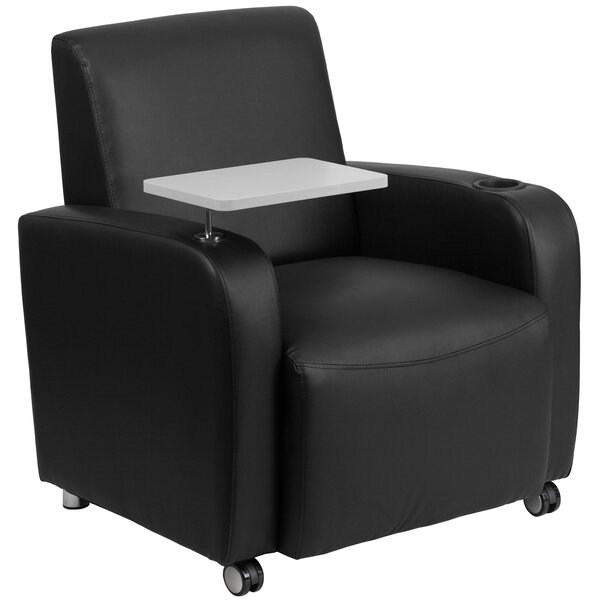Gaffney Leather Guest Chair by Latitude Run