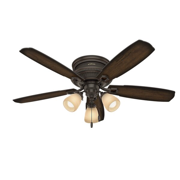 52 Ambrose Low Profile 5-Blade Ceiling Fan by Hunter Fan