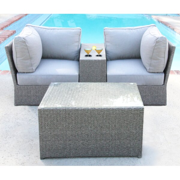 Winsford 4 Piece Sectional Set with Cushions by Rosecliff Heights Rosecliff Heights