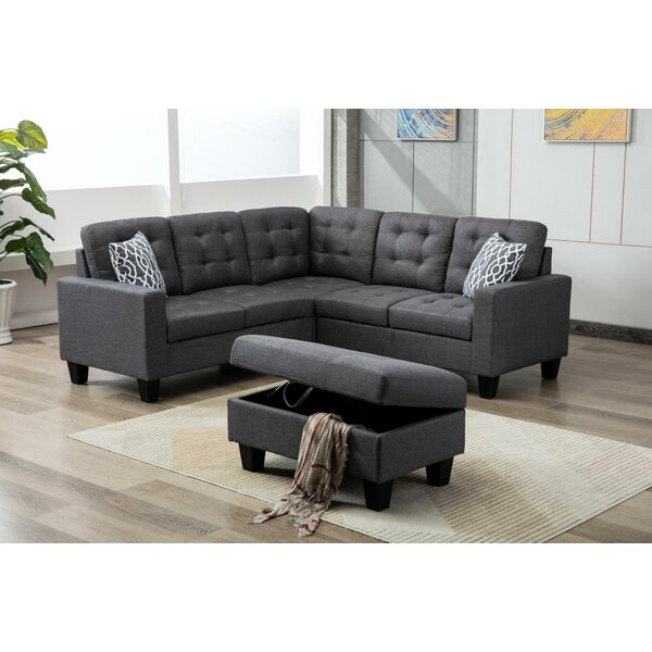 Between Sectional with Ottoman by Three Posts