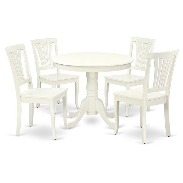 Korando 5 Piece Solid Wood Breakfast Nook Dining Set by August Grove August Grove