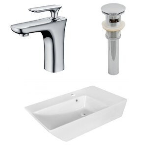 Looking for Ceramic Rectangular Vessel Bathroom Sink with Faucet and Overflow By American Imaginations