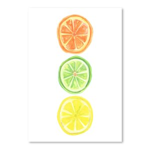 'Citrus Trio' Print by East Urban Home