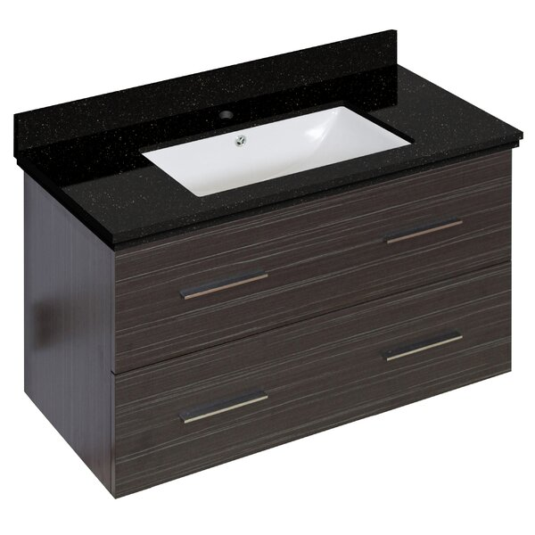 Phoebe Drilling Wall Mount 36 Single Bathroom Vanity Set by Orren Ellis