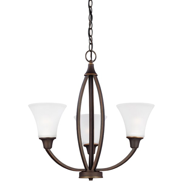 Irvona 3-Light Shaded Classic / Traditional Chandelier By Darby Home Co