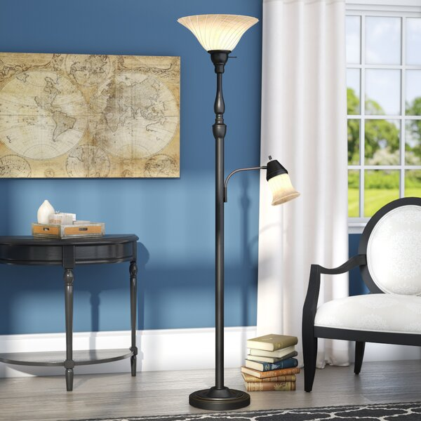 Dragon 71.5 Torchiere Floor Lamp by Charlton Home