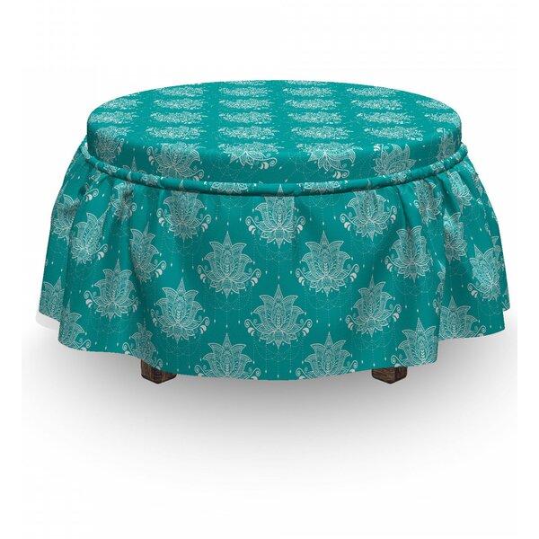 Discount Box Cushion Ottoman Slipcover