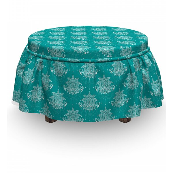 Patio Furniture Box Cushion Ottoman Slipcover