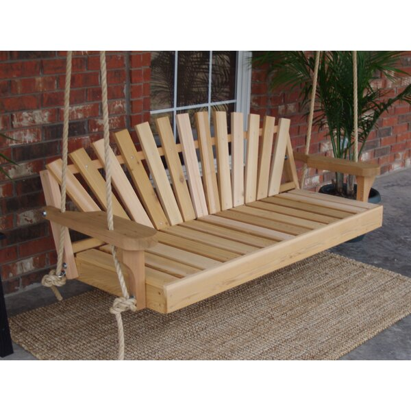 Allegro Cedar Sunrise Rope Porch Swing by Millwood Pines
