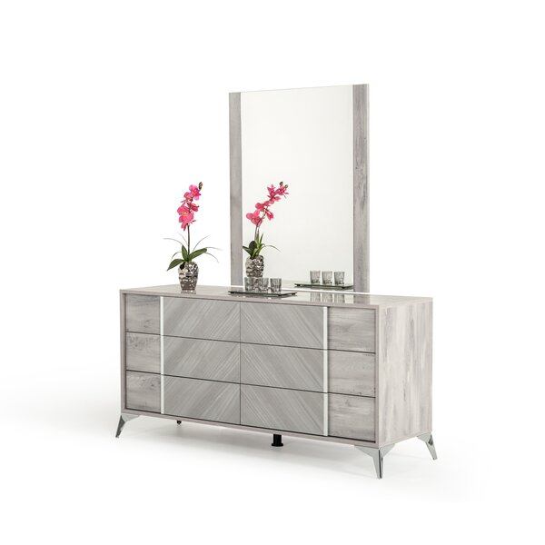 Labombard 6 Drawer Double Dresser with Mirror by Brayden Studio