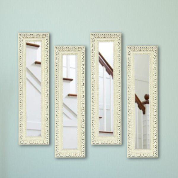 4 Piece Vinton French Victorian Panels Mirror Set (Set of 4) by Ophelia & Co.