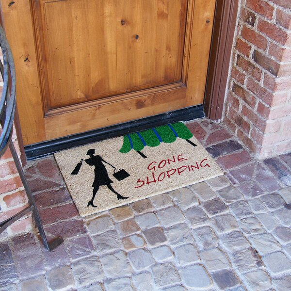 Gone Shopping Unique Welcome Doormat by Rubber-Cal, Inc.