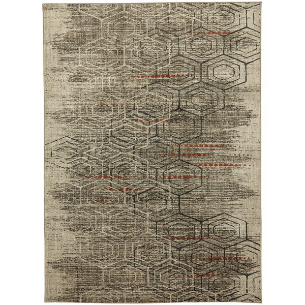Metropolitan Jemma Taupe/Ivory Area Rug by Mohawk Home