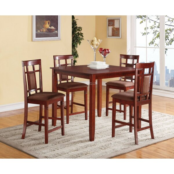 Pontiff 5 Piece Counter Height Dining Set by Winston Porter